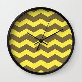 Chevron (yellow & brown) Wall Clock