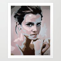 emma watson Art Prints featuring Emma Watson by Sensitive Derais