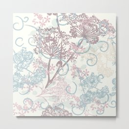 Spring morning field. Abstract floral pattern Metal Print