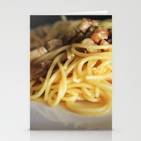 pasta Stationery Cards featuring Pasta by alemazza