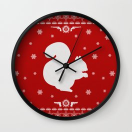 Supernatural Dean Holiday Sweater Wall Clock