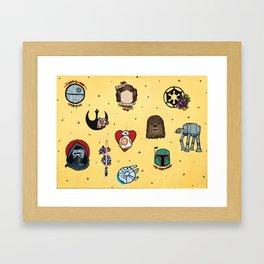 Star Fleet Flash Sheet Framed Art Print