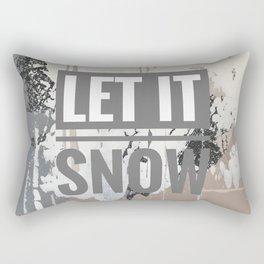 Snowfall - let it snow Rectangular Pillow