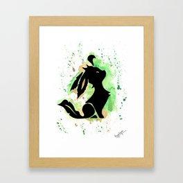 Leafeon Splash Silhouette Print Framed Art Print