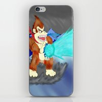 donkey kong iPhone & iPod Skins featuring Donkey Kong Super Kamehameha by Juiceboxkiller