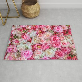 Pink & Red Roses Rug