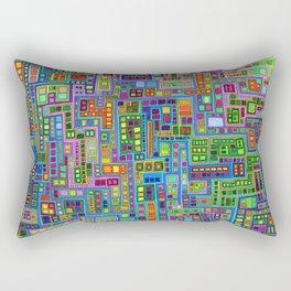 Tiled City Rectangular Pillow