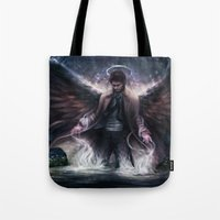 grace Tote Bags featuring Grace by jasric