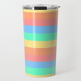 lumpy or bumpy lines abstract and summer colorful - QAB275 Travel Mug
