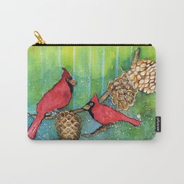 Christmas Cardinals Carry-All Pouch