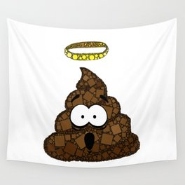 Holy Crap! - Bathroom Humor - Poop - 57 Montgomery Ave Wall Tapestry