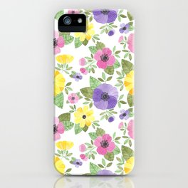 Spring Bouquet Watercolor iPhone Case
