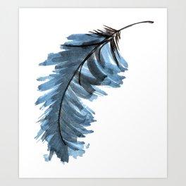 Indigo Feather Art Print