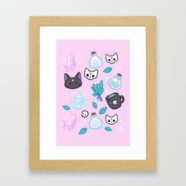 Herb Witch // Pink Framed Art Print
