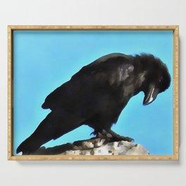 Summer Raven Serving Tray