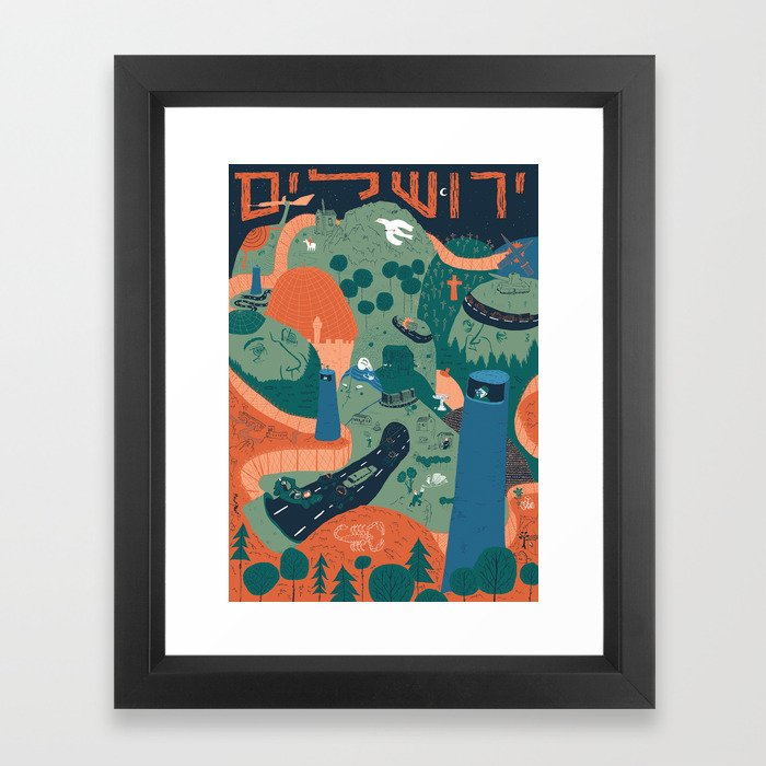 Jerusalem Poster Framed Art Print