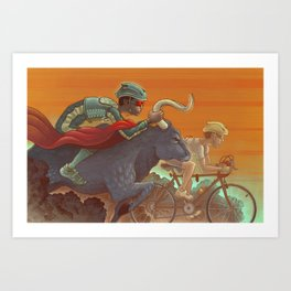 Bullride Art Print
