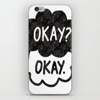 tfios iPhone & iPod Skins featuring OKAY?OKAY THE FAULT IN OUR STARS TFIOS HAZEL AUGUSTUS CLOUDS by monalisacried
