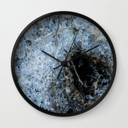 Icy Footprints Wall Clock