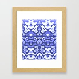 Winter is Coming, Cold Blue Winter Nights Are Coming Framed Art Print