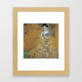 Portrait of  Bloch-Bauer I by Gustav Klimt Framed Art Print