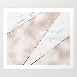 Spliced rose gold marble Kunstdrucke