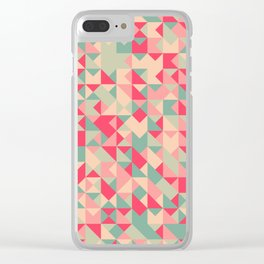TRIANGLE GEOMETRY PATTERN v1 Clear iPhone Case