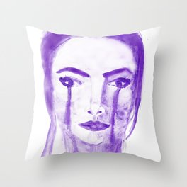 Violet Silence Throw Pillow