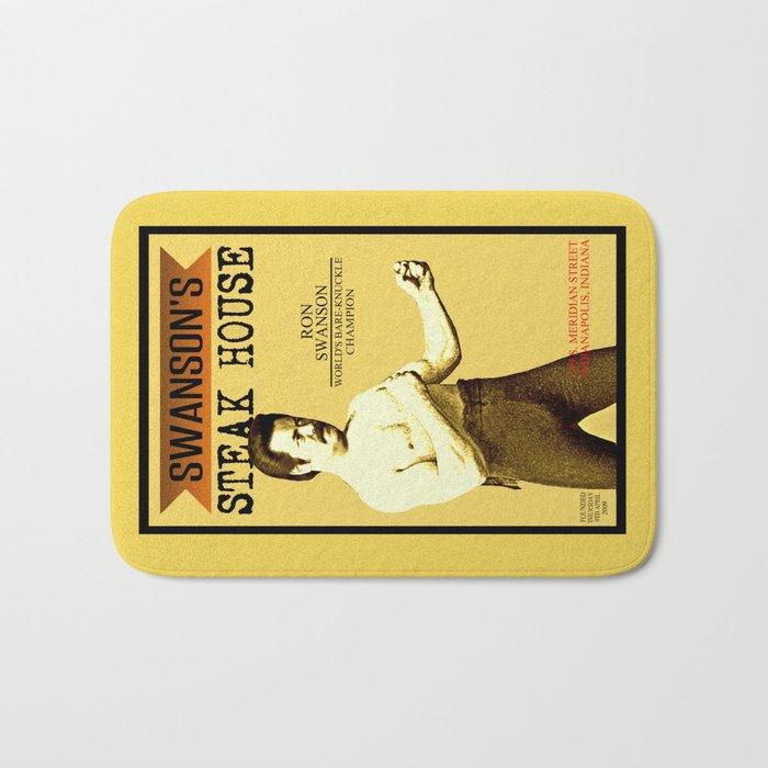 Ron Swanson  |  Steak House Parody |  Parks and Recreation Bath Mat