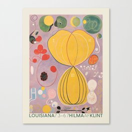 Hilma af Klint. Exhibition poster for The Louisiana Museum of Modern Art in Humlebæk, 2014. Canvas Print