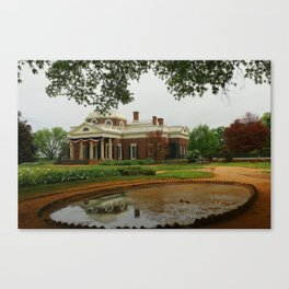 Morning At Monticello - Jeffersons Home Canvas Print