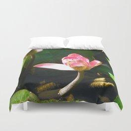 Hanalei Lotus, by Mandy Ramsey, Haines, AK Duvet Cover