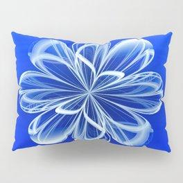White Bloom on Blue Pillow Sham