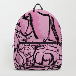 Funky quirky pink roses Backpack