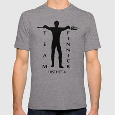 Team Finnick LARGE Tri-Grey Mens Fitted Tee