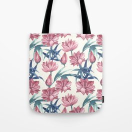 Oriental Flowers Tote Bag