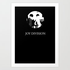 JOY DIVISION - Music | Goth | Indie | Wave | Retro | Vintage | Vector | Black and White | Vinyl  Art Print