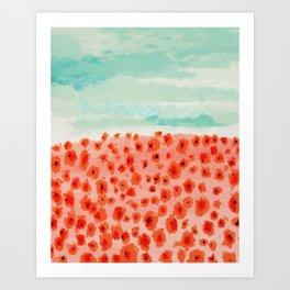 Poppies Field Art Print