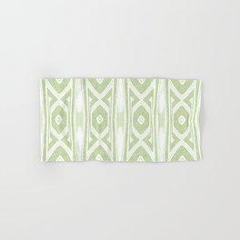 Velvety Tribal Shield Reverse in Lime Green Hand & Bath Towel