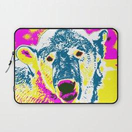 Pop Art Polar Bear 1 Laptop Sleeve