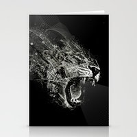 fierce Stationery Cards featuring Fierce by Ismael Sandiego