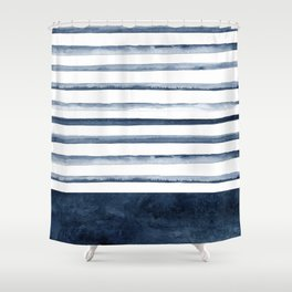 Stripes | Watercolor Pattern Shower Curtain