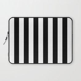 Parisian Black & White Stripes (vertical) Laptop Sleeve