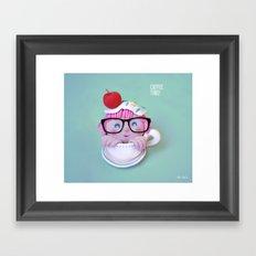 Coffee time! Framed Art Print