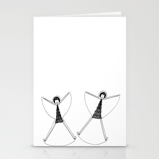 Snow angels Stationery Cards