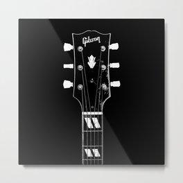 Vintage 1950 Gibson ES-300 - Acoustic Guitar - Headstock-Vintage-Rock Music - Blues Metal Print