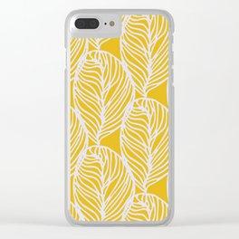 Petaluma, yellow Clear iPhone Case