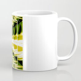 Abstract.Green,Yellow,Black,White,Lime. Coffee Mug
