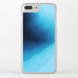 Cubed Glacier II Clear iPhone Case