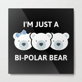 Bi-Polar Bear Metal Print